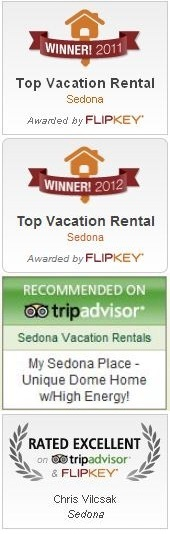 Flipkey and TripAdvisor top vacation rentals in Sedona for 2011, 2012, and 2013!