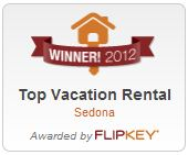 Flipkey Award Winner - Best Sedona Vacation Rental for 2012