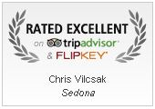 TripAdvisor Sedona Vacation Rental Award Winner - Rated Excellent