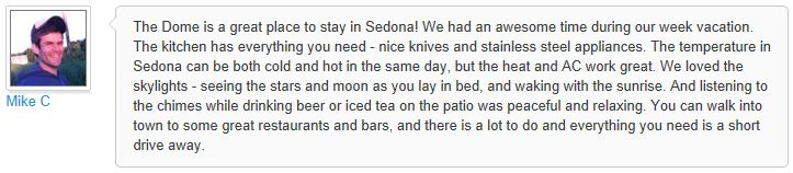 Review of My Sedona Place, by Jan W - 3 out of 3 Stars