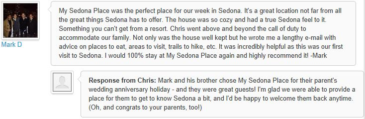 Review of My Sedona Place, by Mark D - 3 out of 3 Stars