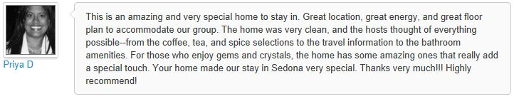 Review of My Sedona Place, by Priya D - 3 out of 3 Stars
